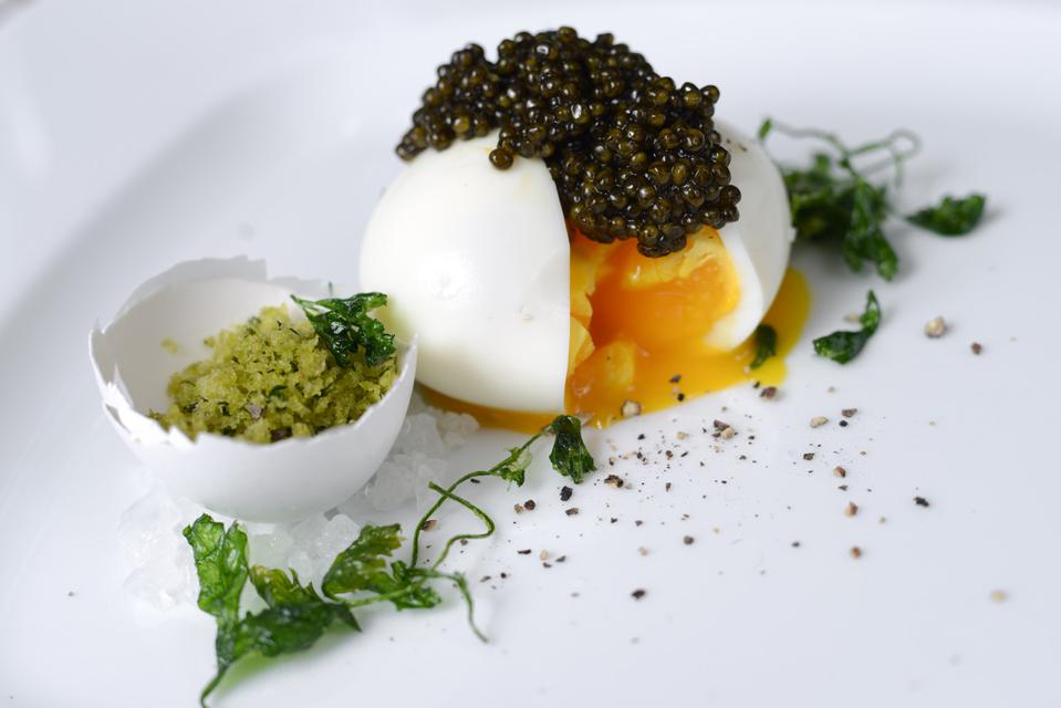 Soft Boiled Eggs with Sterling Caviar