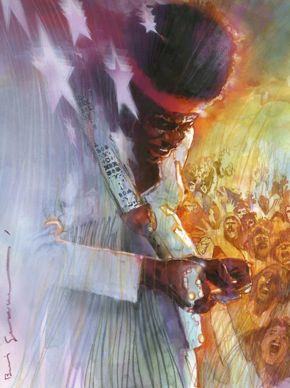 Bill Sienkiewicz Jimi Hendrix