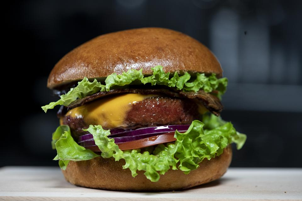 Nestlé's Triple Play is made with the Sweet Earth Awesome Burger.