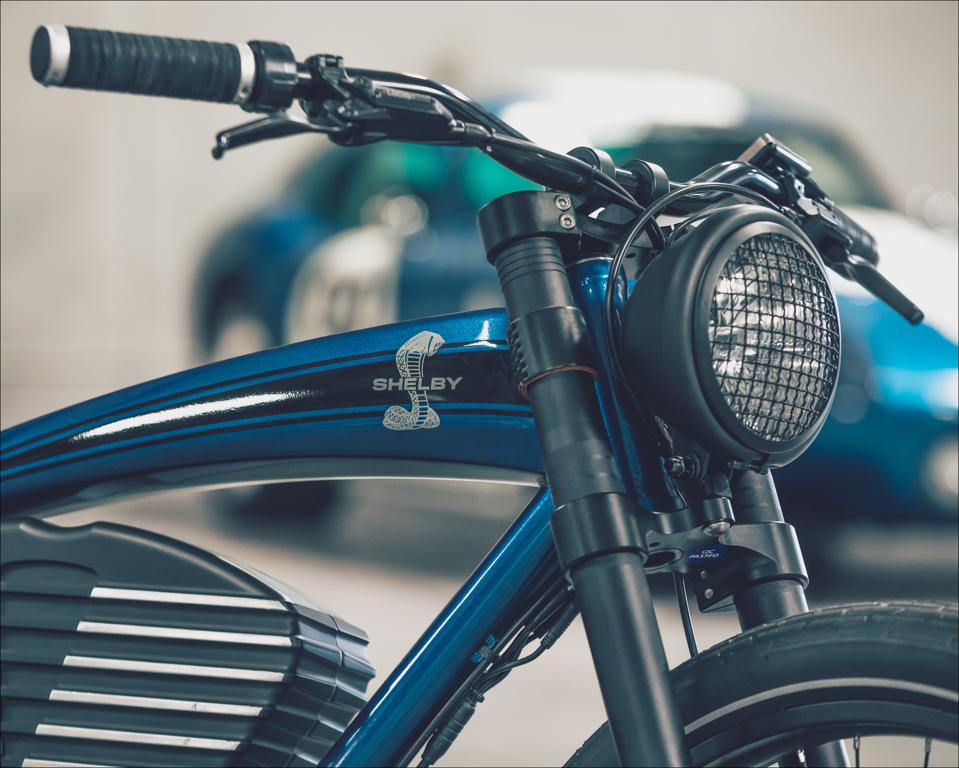 Headlight is 6-volt LED measuring 5.75 inches. Taillight is another 6-volt LED. Front forks include 60mm of travel, lessening any shock coming up to hands and ultimately shoulders.