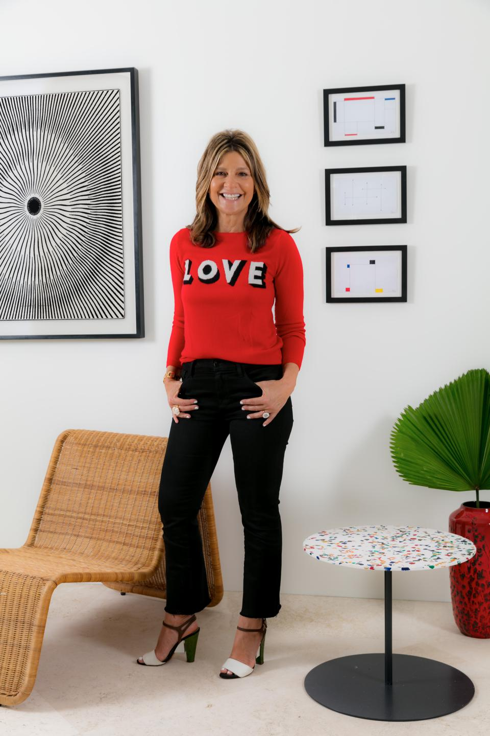 Fashion and interior designer Lisa Perry