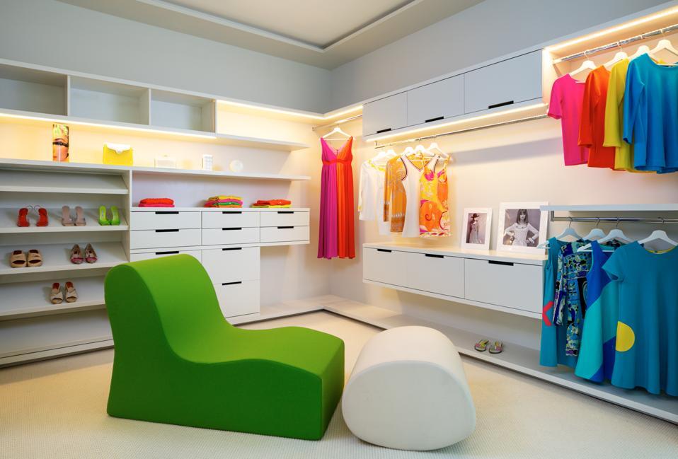 Walk-in boutique closet