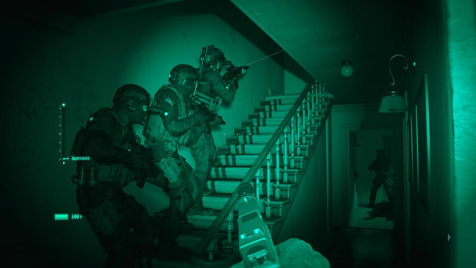 Night vision in Clean House in Modern Warfare