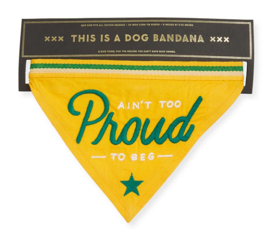 Ain't Too Proud To Beg Dog Bandana