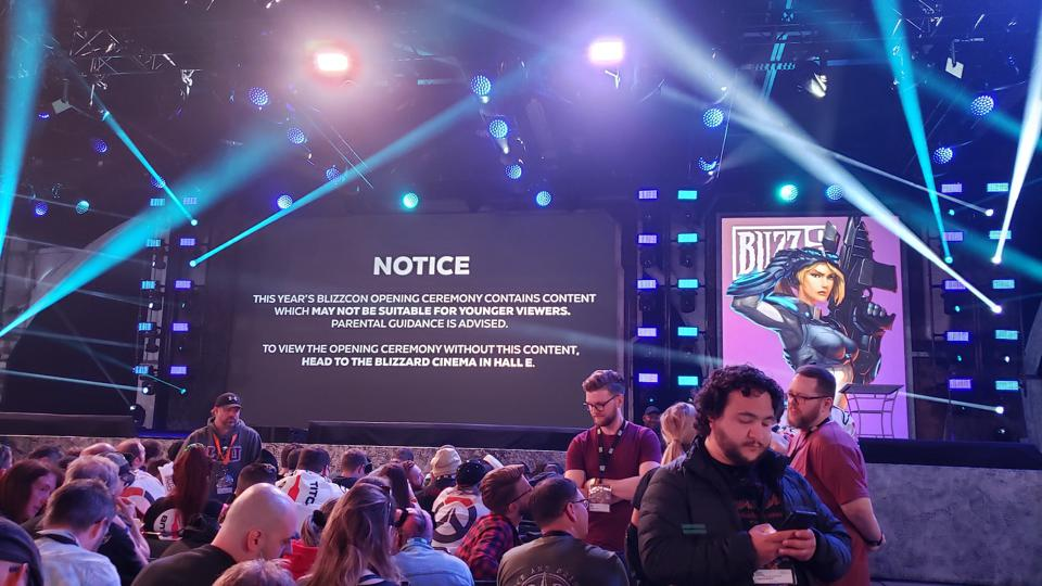 The ″Diablo warning″ at BlizzCon opening ceremonies.