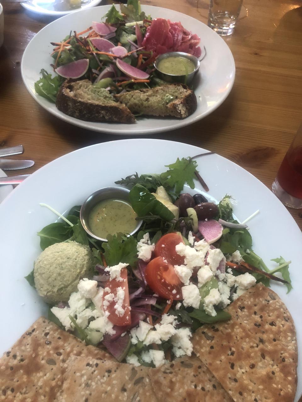 Salads at Kahumana Farms Cafe