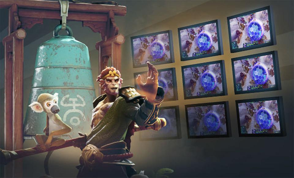 Artwork of Monkey King from Dota 2.