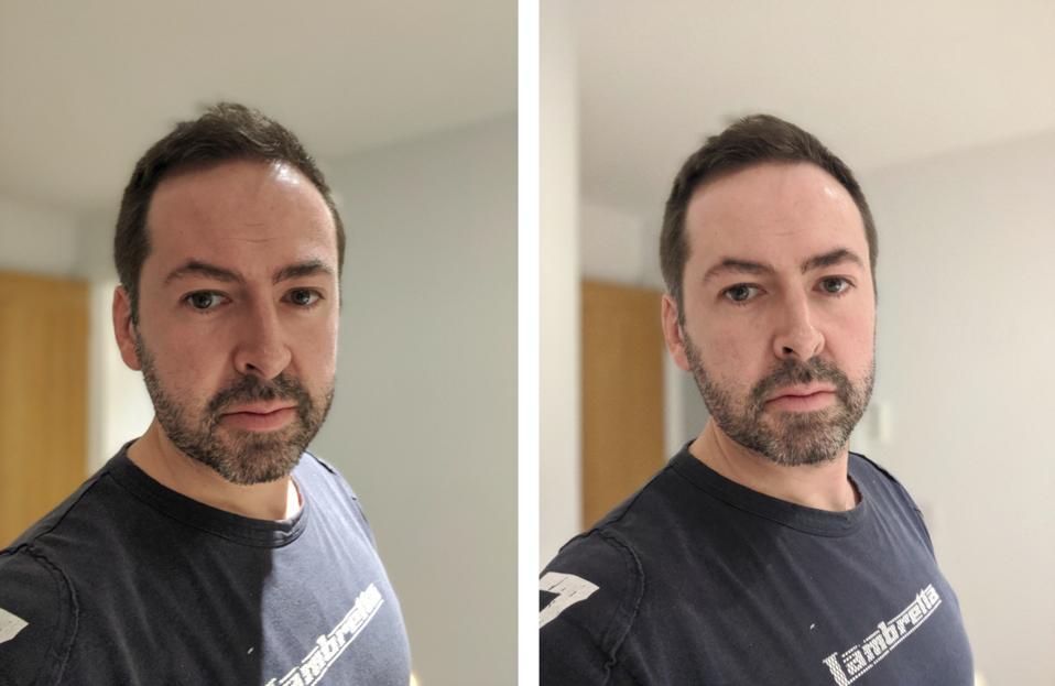 Pixel 4 selfie camera distortion