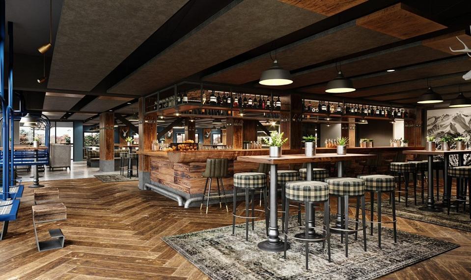 Bar at Gravity Haus hotel Breckenridge CO