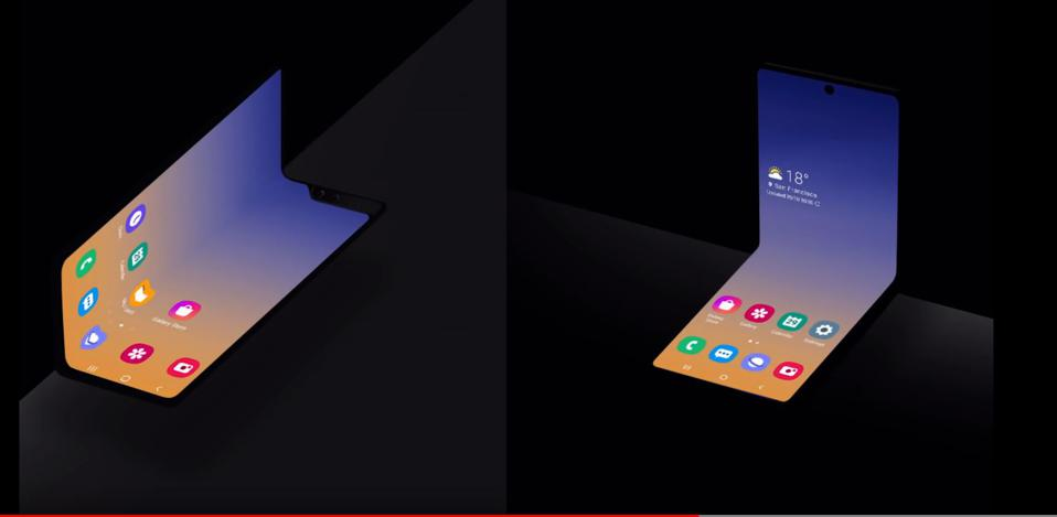 Samsung is working on new foldable phone shapes.