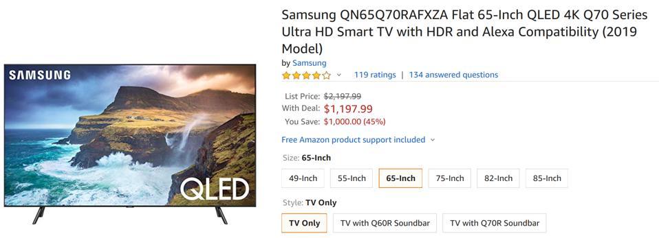 Amazon Black Friday Samsung TV deals