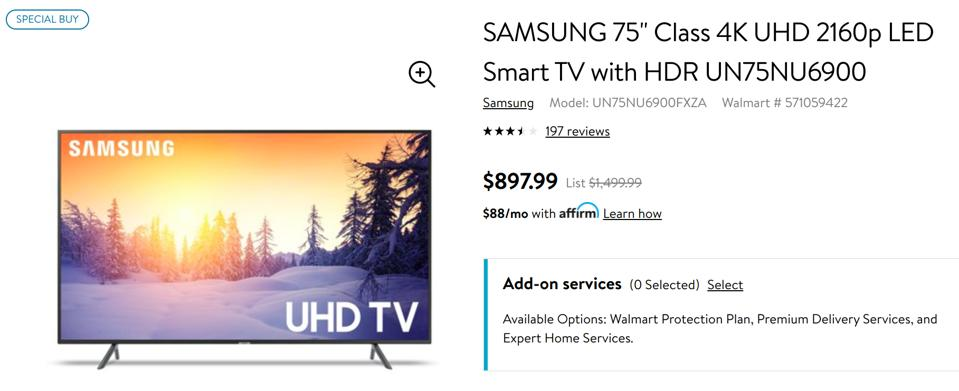 Walmart Black Friday TV deals, Walmart Black Friday phone deals, Walmart Black Friday 2019 sales,