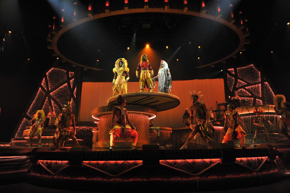 One of the stars of the Lion King show is the innovative stage