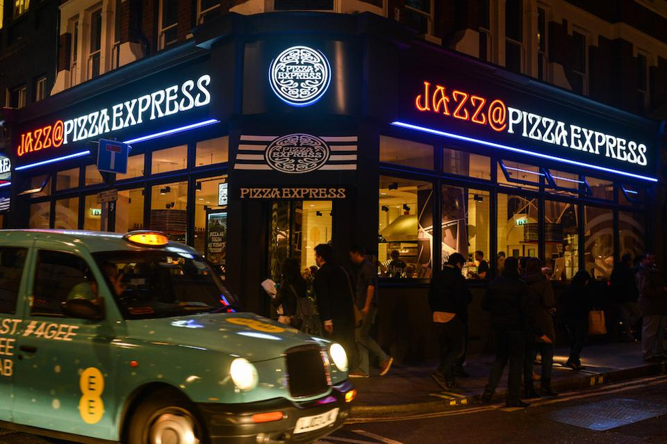 The exterior of the Pizza Express Jazz Club in Soho, one of the venues of the EFG London Jazz Festival