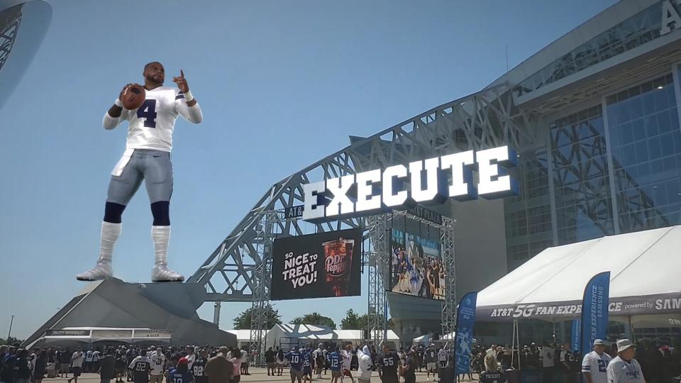 In the effort to further enhance the fan experience, the Dallas Cowboys and Nexus Studios are bringing players larger than life to provide entertainment and additional game information.