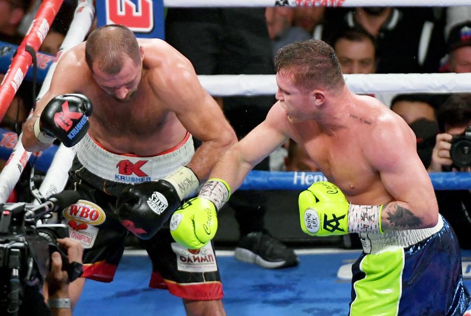 Canelo Alvarez vs Sergey Kovalev pound for pound list boxing