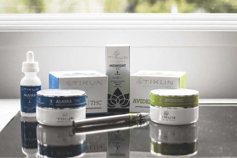 Products from Tikun, a legal cannabis grower