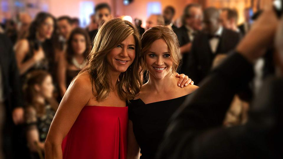 Jennifer Aniston and Reese Witherspoon in Apple TV's  'The Morning Show'