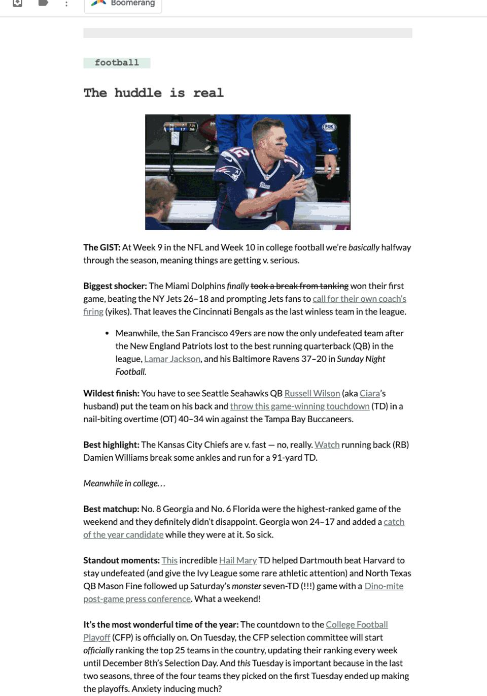 Screen Shot of The GIST newsletter 11-04-2019