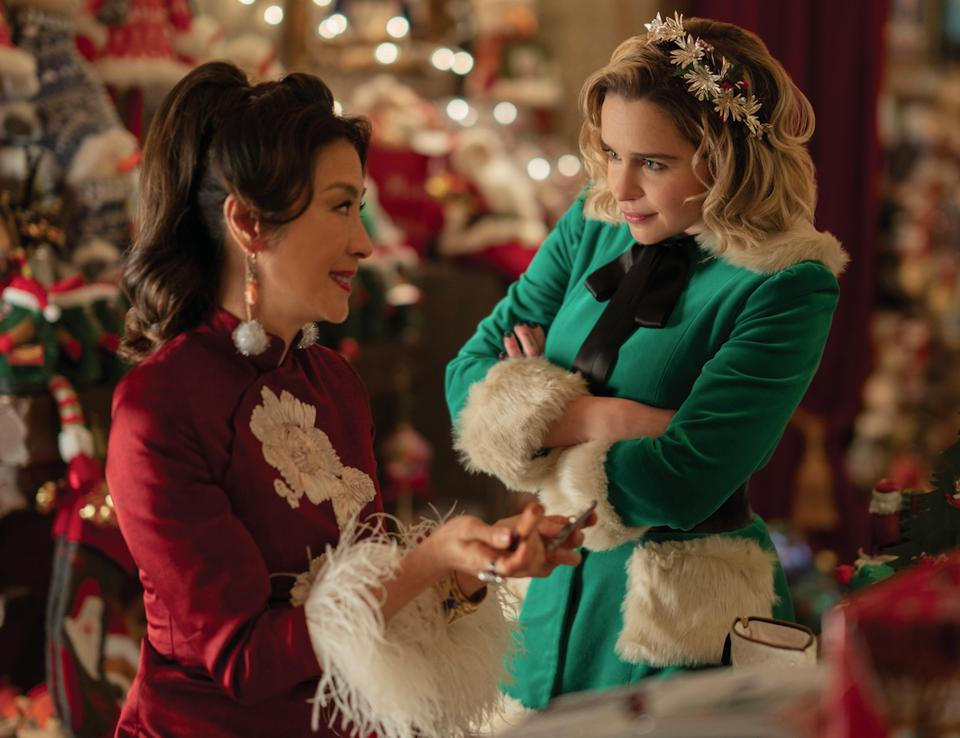 Michelle Yeoh and Emilia Clarke in 'Last Christmas.'