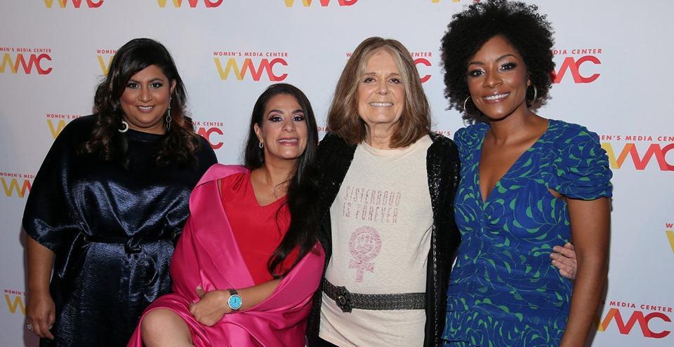 Samhita Mukhopadhyay, Maysoon Zayid, Gloria Steinem, and Zerlina Maxwell at the 2019 Women's Media Center Awards