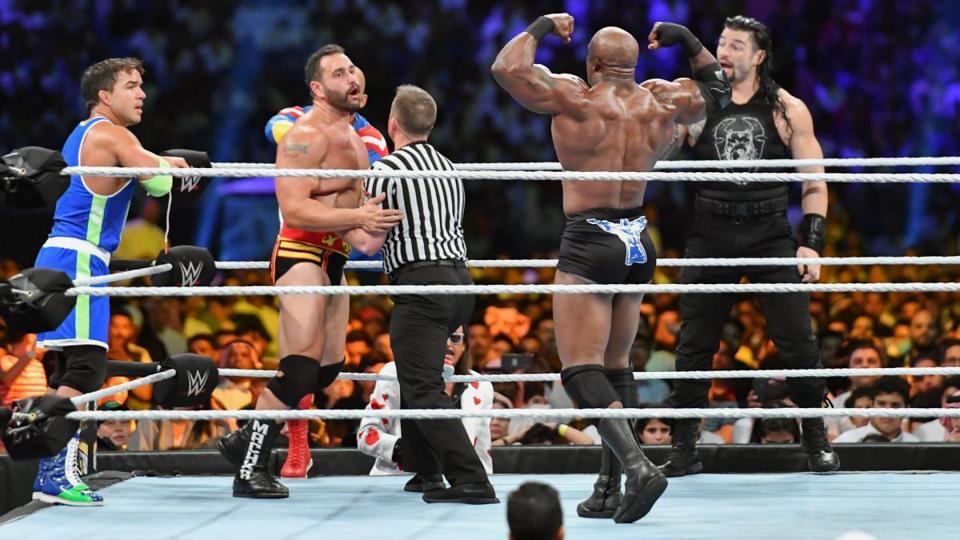 WWE Crown Jewel 2019: Roman Reigns, Rusev and Bobby Lashley