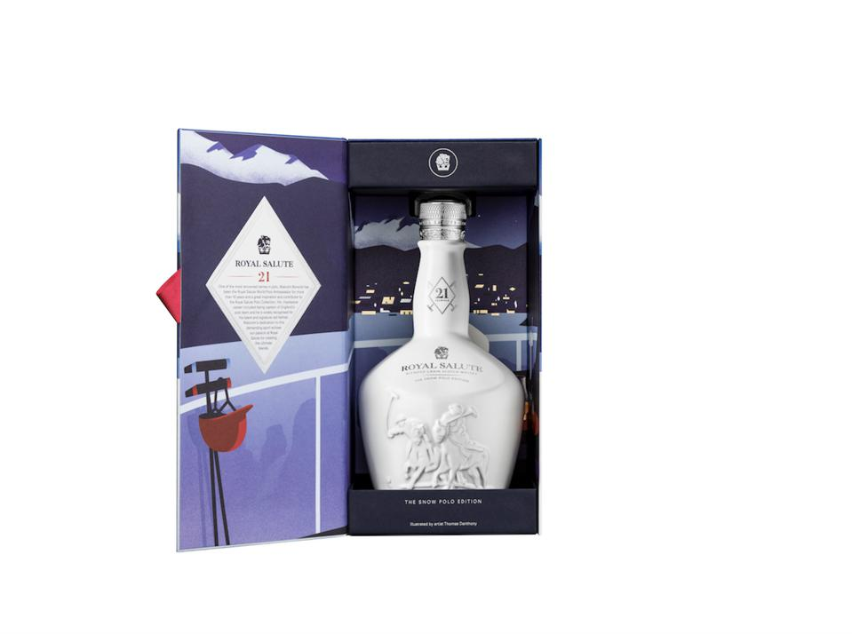 The Royal Salute 21 Year Old Snow Polo Edition currently is available at select luxury retailers worldwide at a suggested retail price of $155.