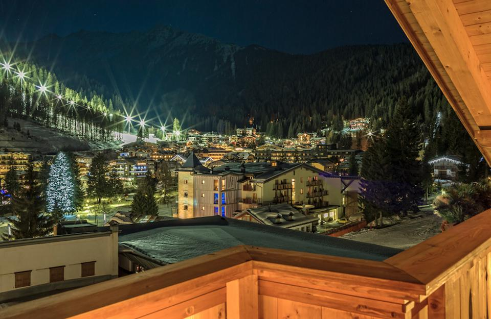 A view from the Hotel Chalet del Sogno.