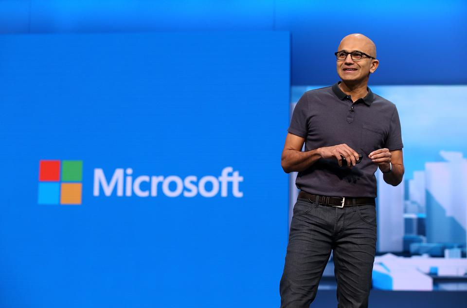Satya Nadella at Microsoft's Annual Build Conference