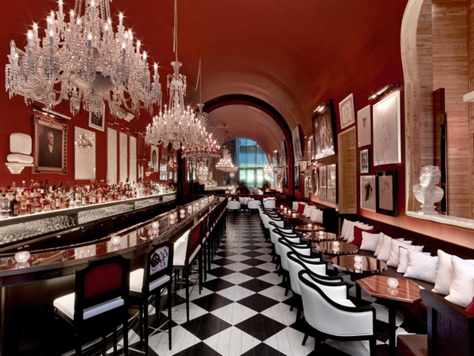 The bar at the Baccarat.