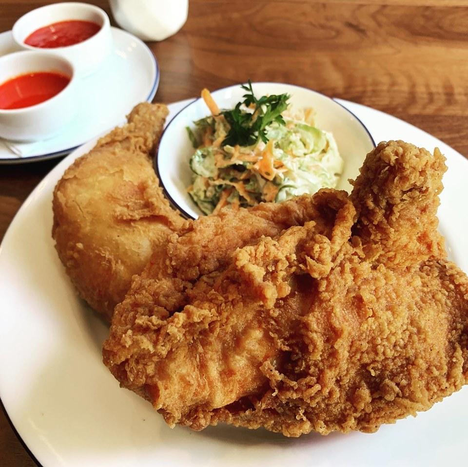 Fried chicken at Parterre Restaruant