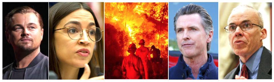 Leonardo DiCaprio, AOC, Gavin Newsom & others exaggerate climate's role in California fire