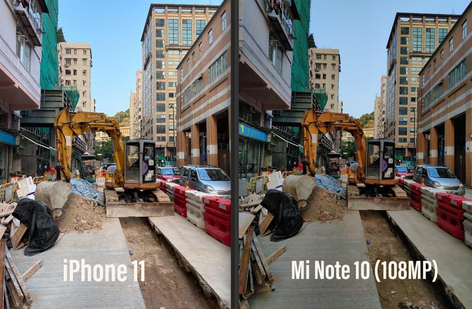 iPhone 11 Pro vs Xiaomi Mi Note 10.