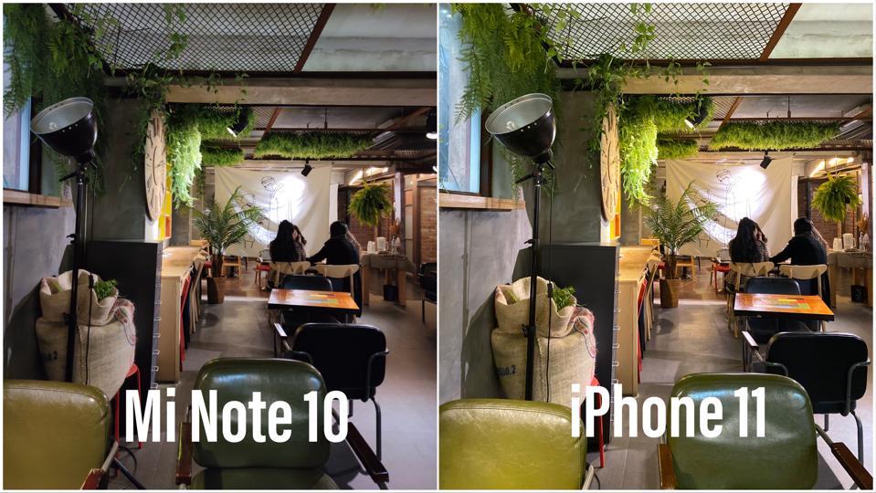 Mi Note 10 vs iPhone 11
