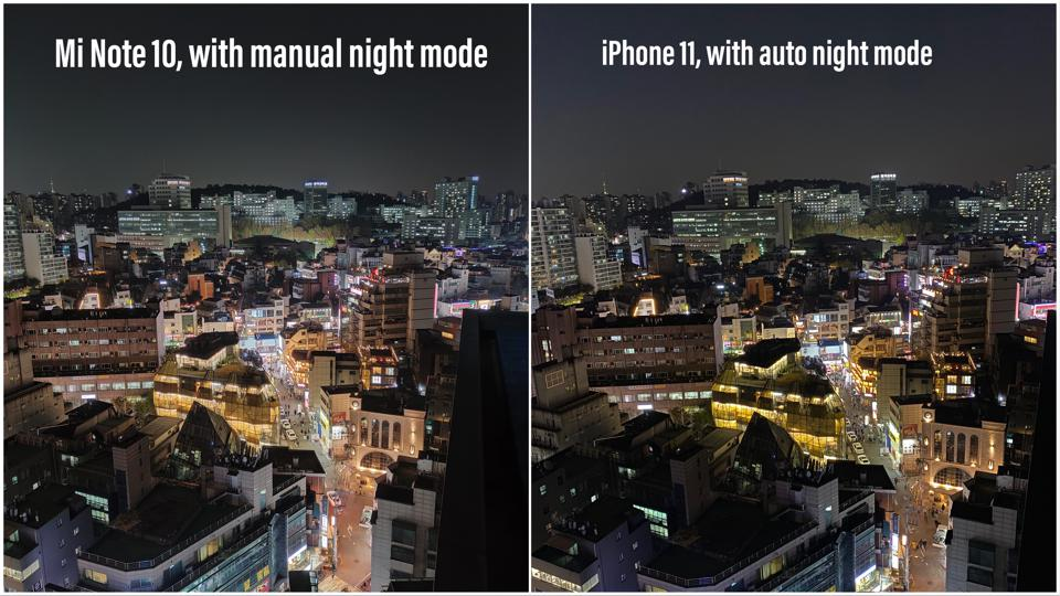 Xiaomi's images improves drastically with night mode.