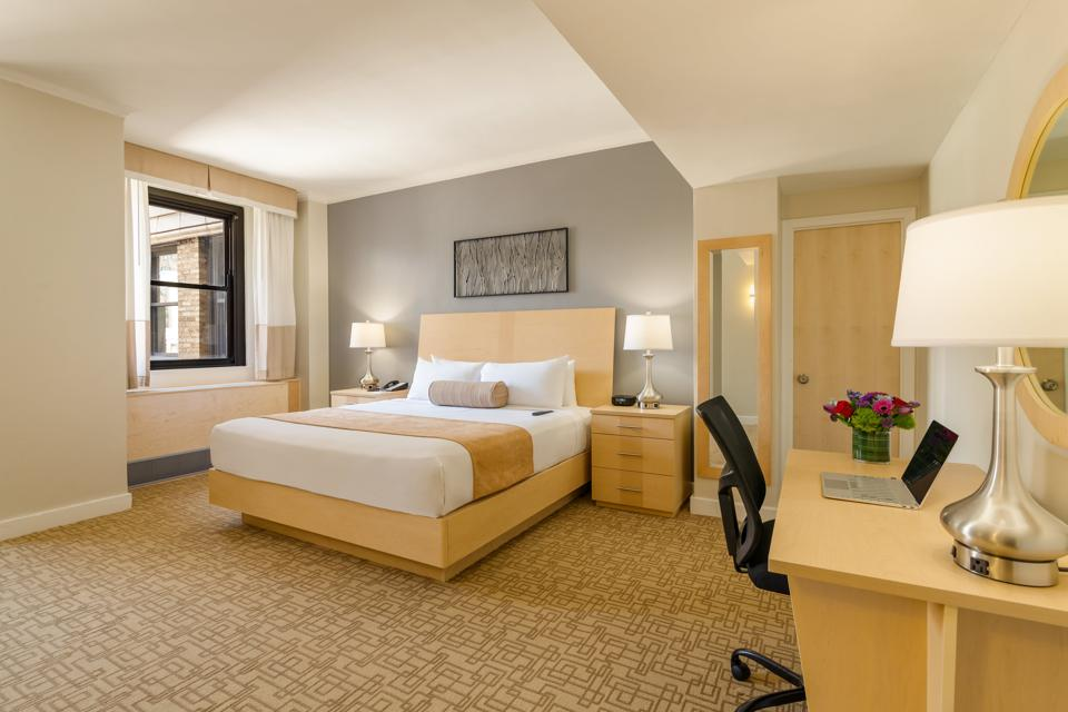 A major hotel transformation at Hotel Pennsylvania  included new room design.