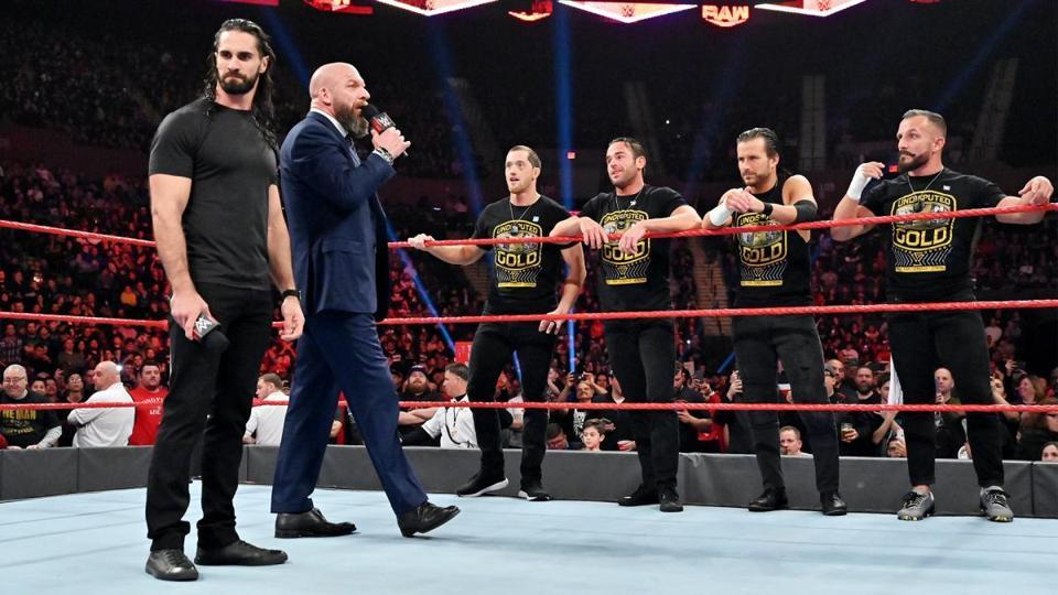 WWE Raw: Seth Rollins, Triple H and Undisputed Era