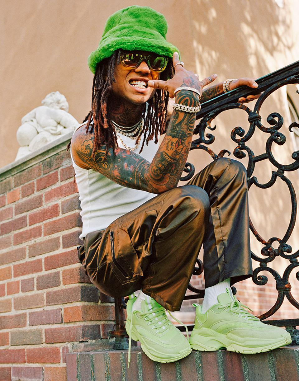 Swae Lee in a bright green look.