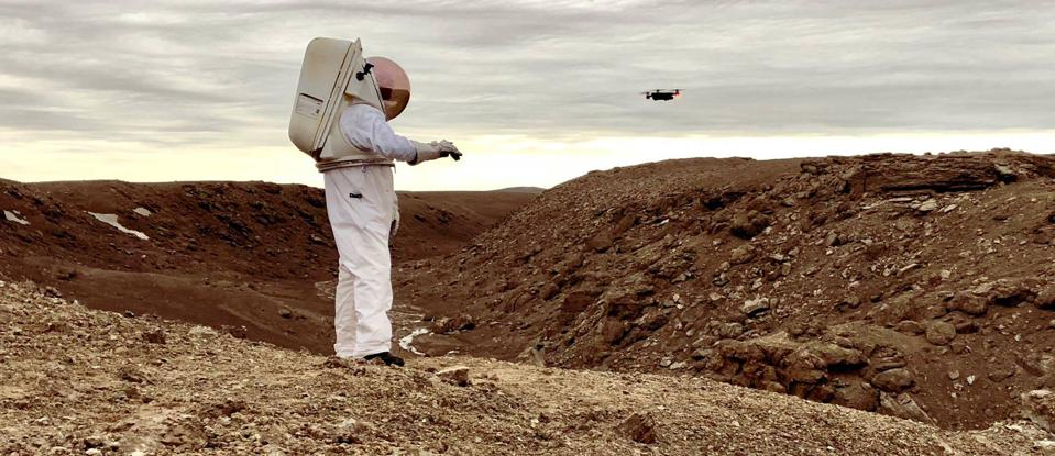 Future astronauts may control moon drones with their hands.