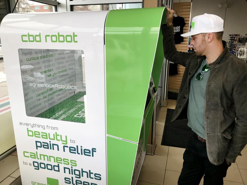 Using a CBD dispensing robot