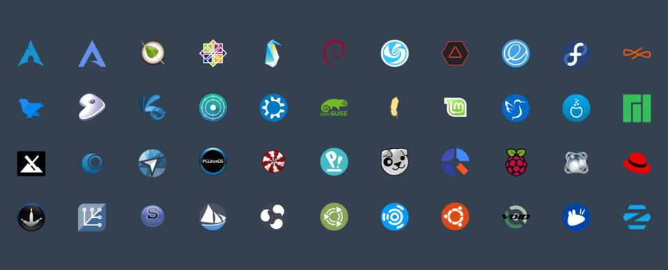 A few Linux distros to choose from. . .