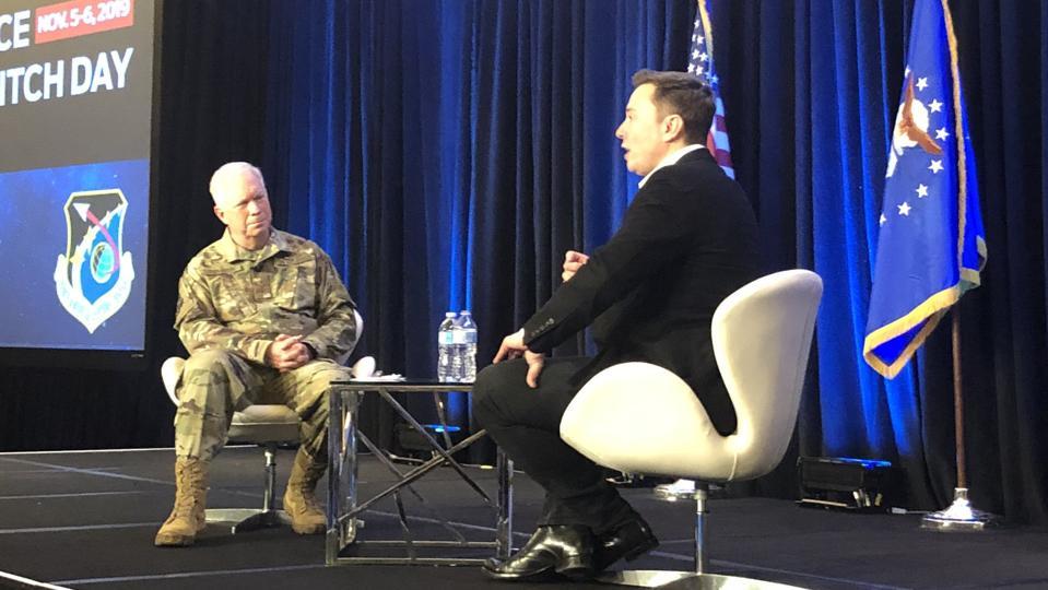 Lt. Gen. John F. Thomson and Elon Musk