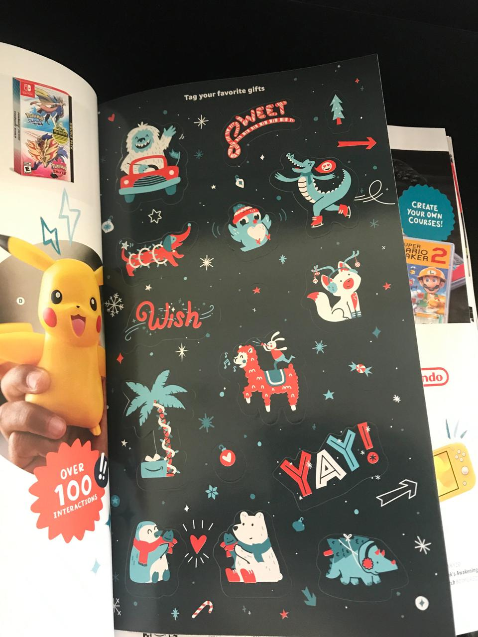 Sticker page from Amazon's Toy Catalog