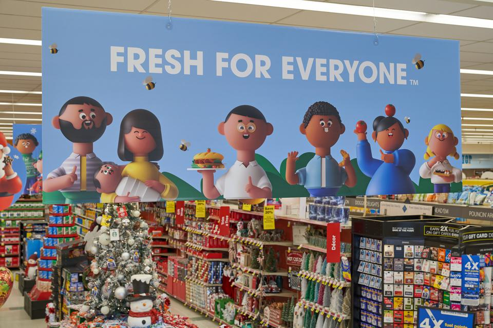 One example of Kroger's new in-store signage