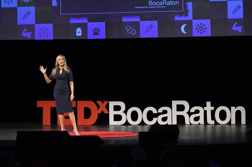 Professional speaker Heather Monahan presents at TedX Boca Raton