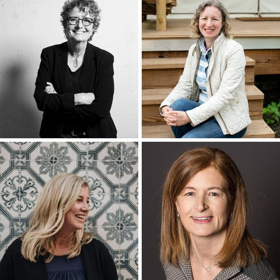 Fran Dunaway, cofounder and CEO at tomboyxSarah Dusek, cofounder and CEO at Under Canvas; Nicole Smith, founder and CEO at Flytographer; Ellen Stang MD Founder, President and CEO at ProgenyHealth
