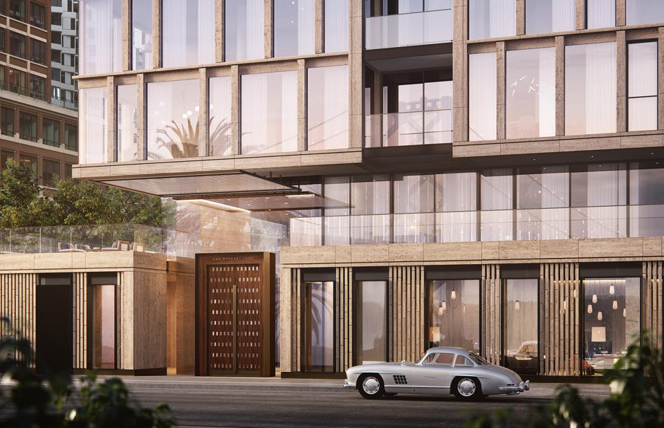 One Stuart Lane will feature a porte cochere and valet service.
