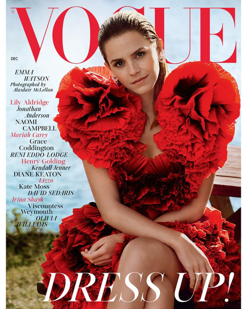 Emma Watson Covers British Vogue Opens Up About Therapy After Harry Potter