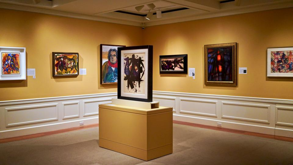 'Heroines of Abstract Expressionism' exhibit gallery installation view at Fenimore Art Museum.