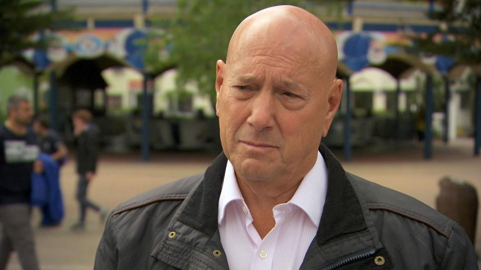 Claude watching the Apprentice candidates on task.